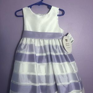 Lilac and white toddler 4 party dress